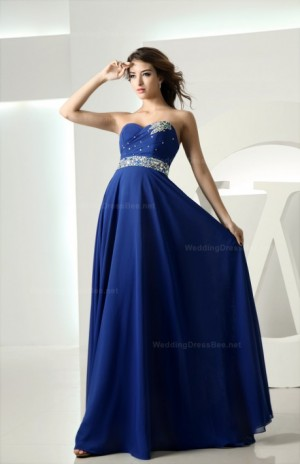 Strapless floor length chiffon bridesmaid dress – Special Price at $139.98  | WeddingDressBee