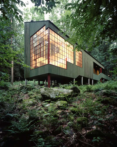 Peter Bohlin – Forest House (house for the architect's parents), West Cornwall CT 1975