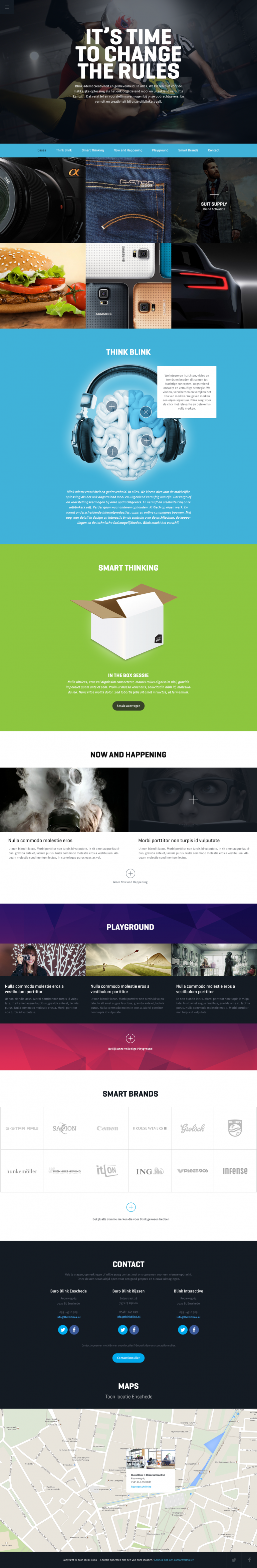 Think Blink Homepage by Bart Ebbekink