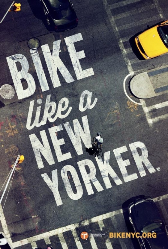 Typography on the Campaign for BikeNYC
