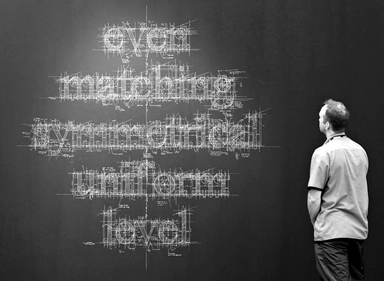Hand drawn chalk typography
