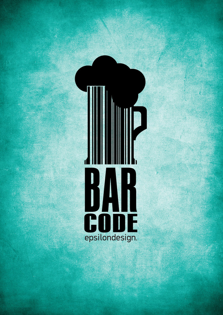 typography bar code by Tasos7