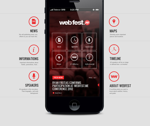 WebFest – iPhone App on Behance