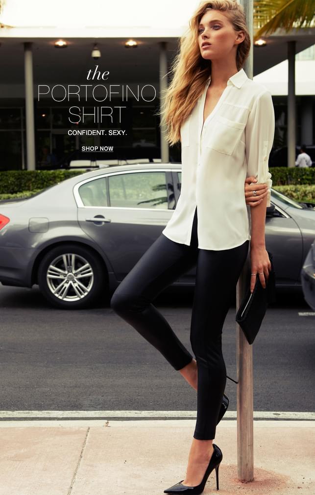 #White #Shirt & Black #Legging #Style #Fashion #Women
