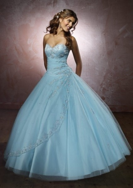 Ball Gown Tulle Sweetheart Natural Waist Floor-Length Lace-up Sleeveless Appliques Beading Drapi ...