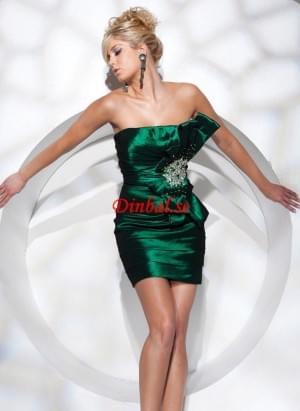Blå Bowknot Mini Aftonklänningar Med Profilerade – Dinbal.SE
