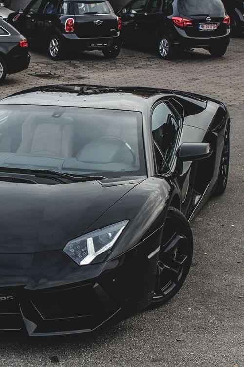 2014 Black Lamborghini Aventador