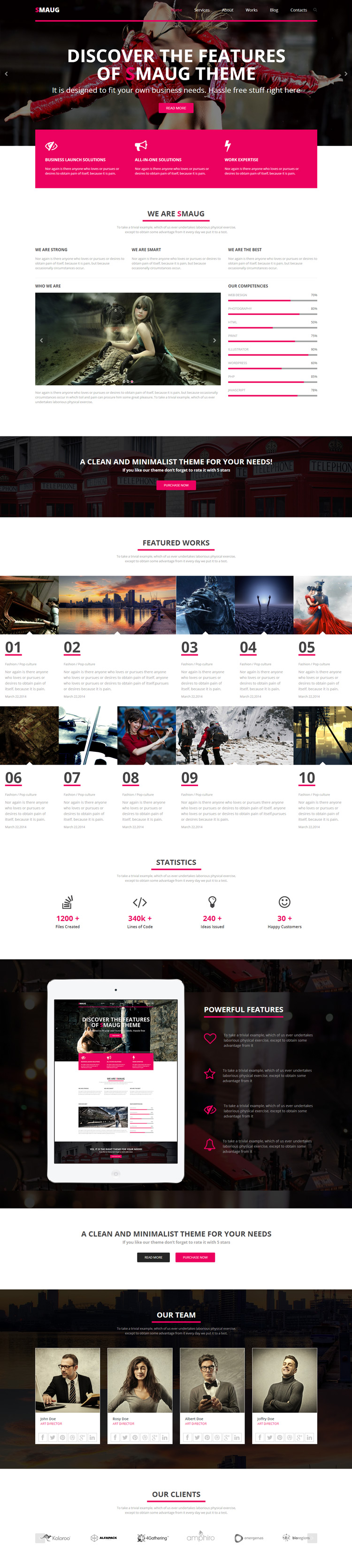 pink, contrast, one page, #concept, #website