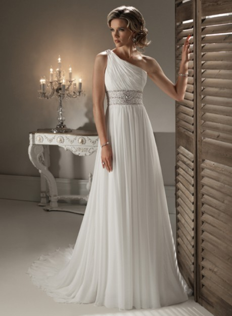 Chic Sleeveless A-line Floor-length bridal gowns style 0bg00681 – | wedding-dress-bee.net