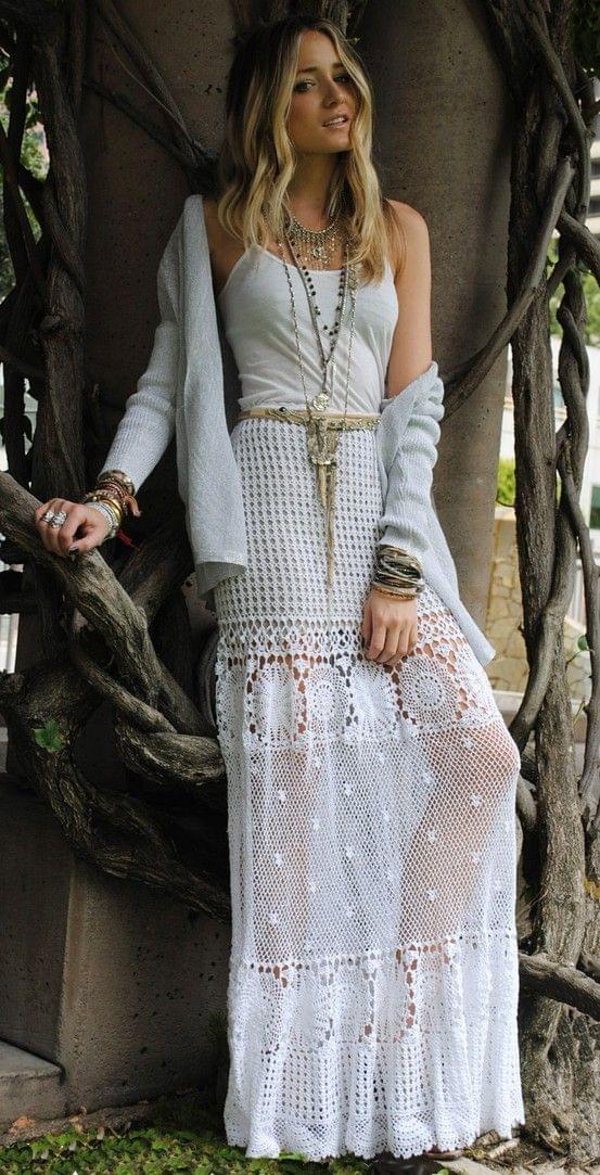 Crochet lace maxi dress | Mode | Pinterest