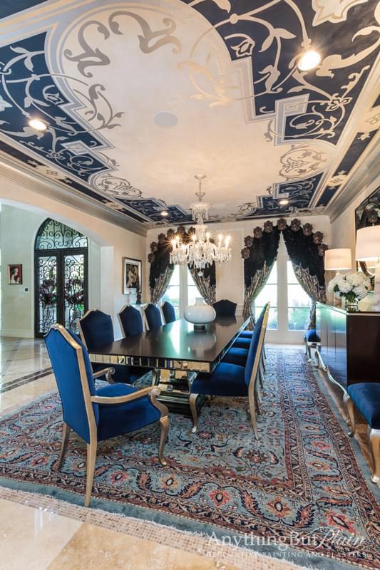 Custom Designed Ceiling on Diamond Plaster