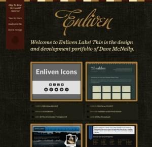 Dark Themed Web Design | Enliven Labs