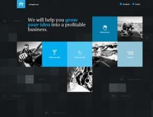 Dark Themed Web Design | 42Angels