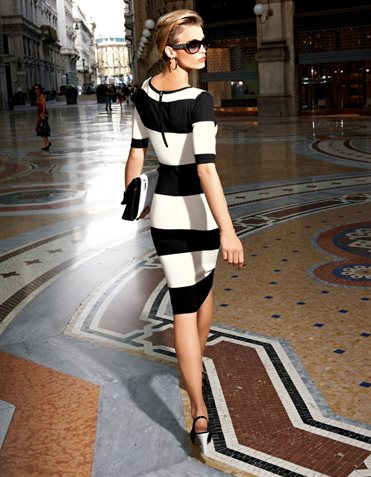 Dress  in the color black / white – black, white, multi coloured – in the MADELEINE  ...