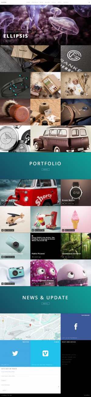 Ellipsis – Fullscreen HD Portfolio WordPress Theme