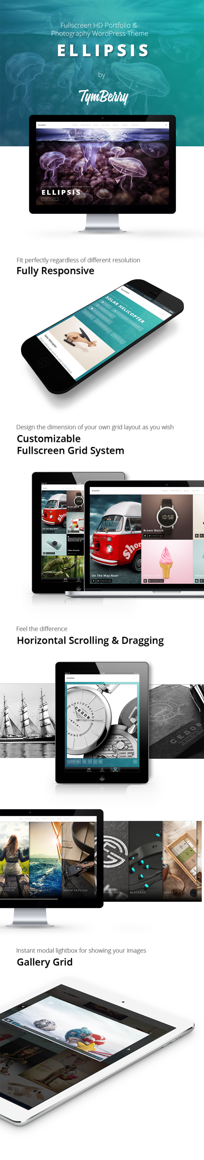 Ellipsis – Fullscreen HD Portfolio & Photography WordPress ThemeEllipsis is a fullsc ...