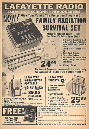 Old ad – family radiation sale!