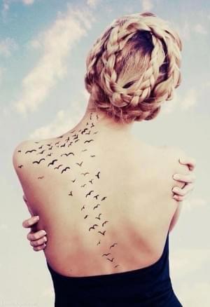 Flock Of Birds Tattoos