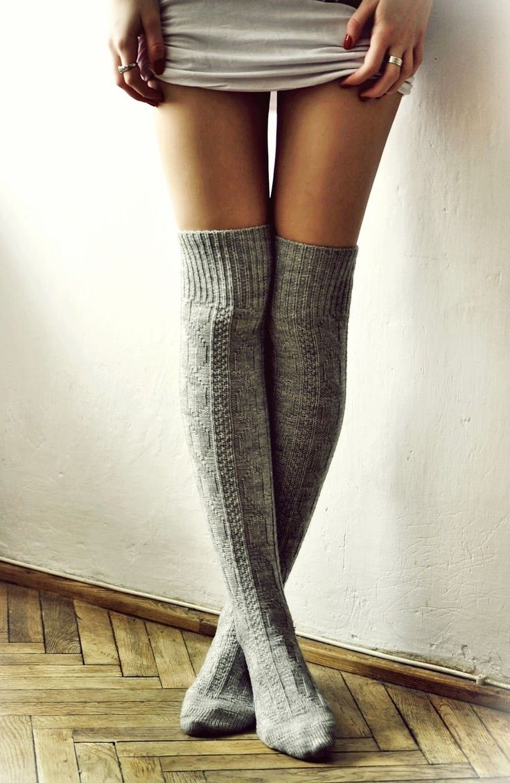 gray over-the-knee socks ~how to dress a woman~