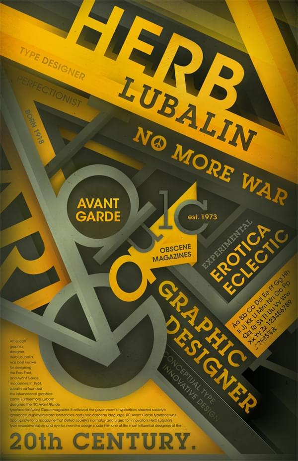 Herb Lubalin & Avant Garde Tribute Poster 09′