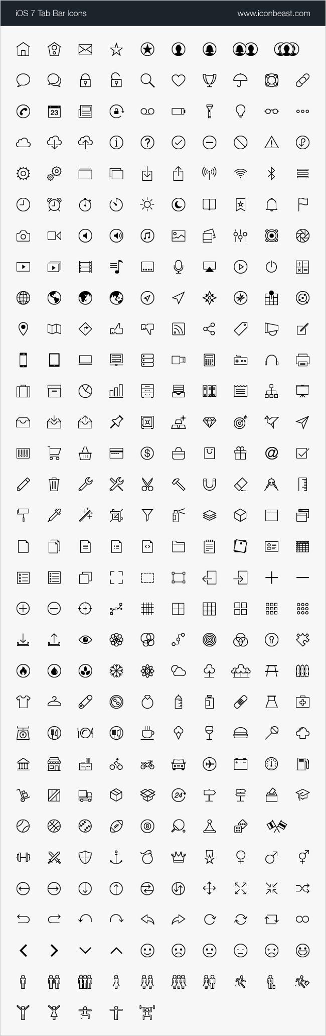 2,000+ High-Quality, iOS Tab Bar and Toolbar Icons
