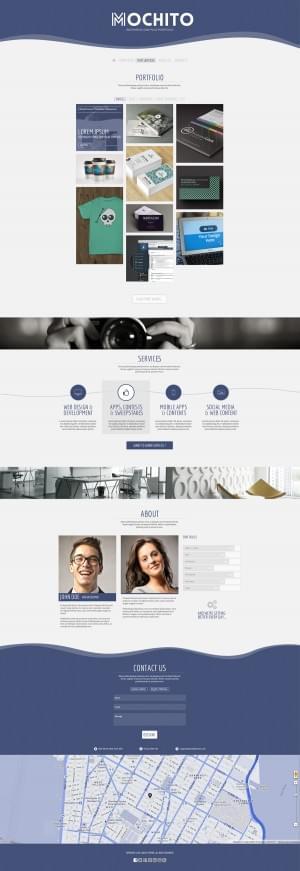 Mochito – One Page Portfolio Joomla template