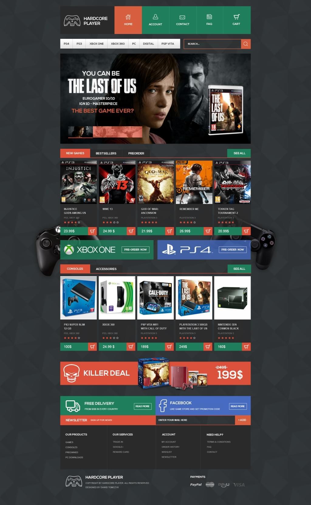 Hardcore player – game store