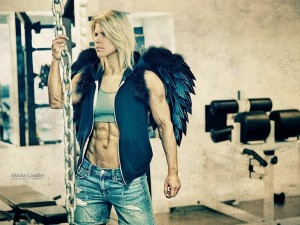 Killin' It In Da Gym – Dark angel with muscles