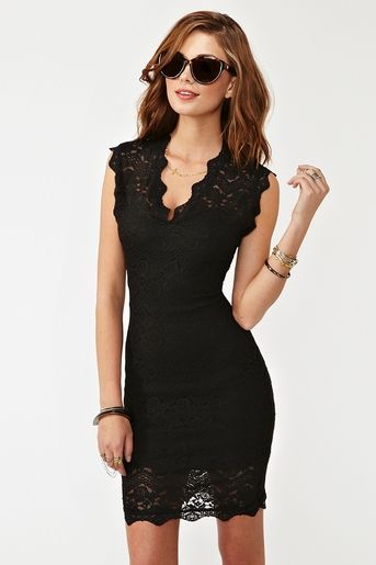 Lara Lace Dress – Black