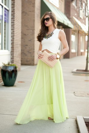 Lime Chiffon Maxi Skirt #swoonboutique | Passion for Fashion | Pinter…