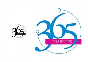365 Days of care in Diabetes | Simple Logo Design
