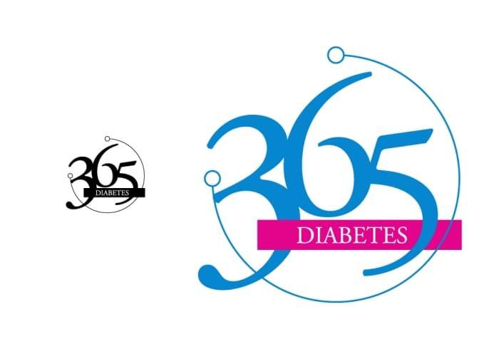 365 Days of care in Diabetes | Simple Logo Design