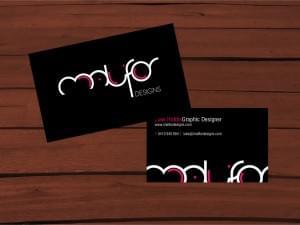 Malifor Designs Business Card
