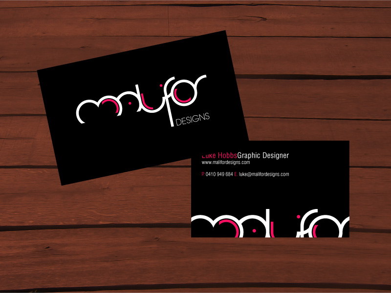 Malifor Designs Business Card