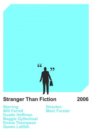Stranger Than Fiction by Gidi Vigo – Minimal Movie Posters