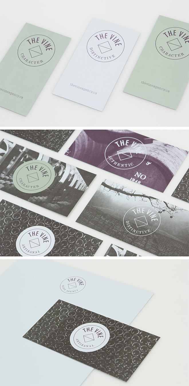 identity design for The Vine by Blok Design: