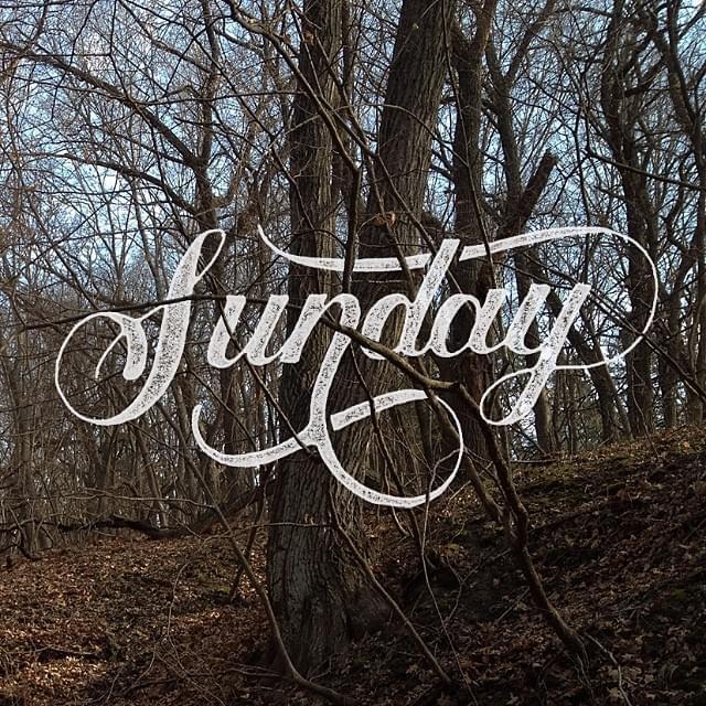 Sunday! typography by Nicolas Fredrickson