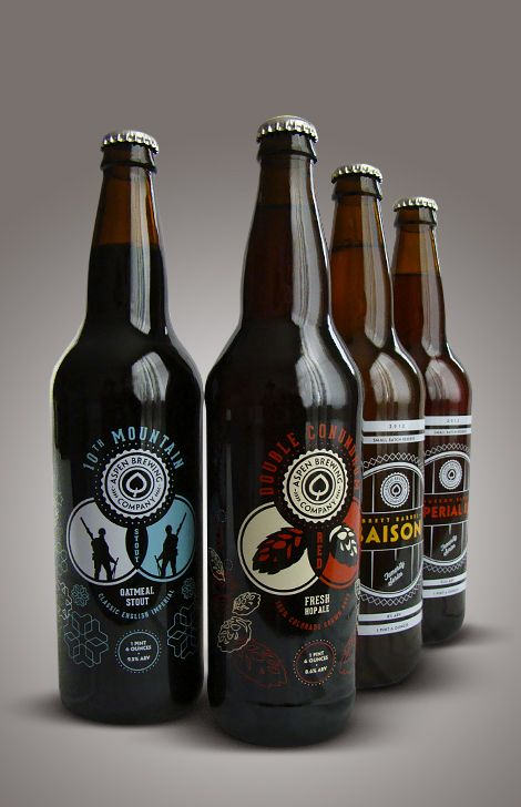 Aspen Brewing Company label designs by Jeremy Elder