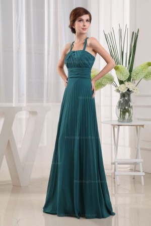 Pleated Chiffon With Empire Waist Floor Length Women Dress  | Wedding Dress Bee