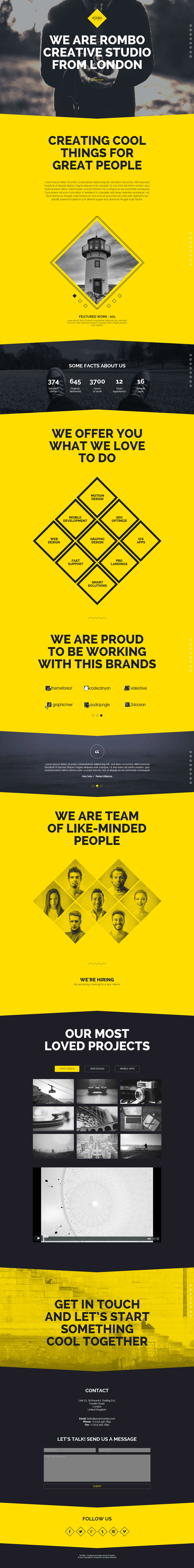 yellow, one page, #concept, #layout, muse, shape