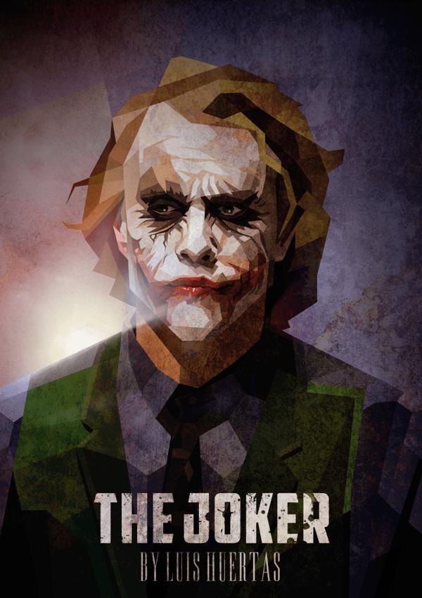The Joker / Cubismo by Luis Huertas