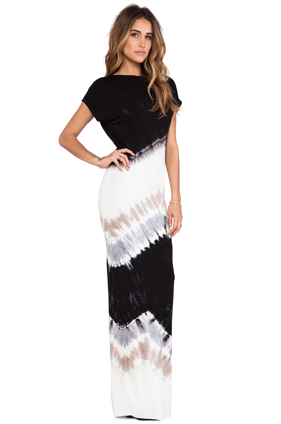 Young, Fabulous & Broke Jaxon Maxi in Black Macaw Wash | REVOLVE