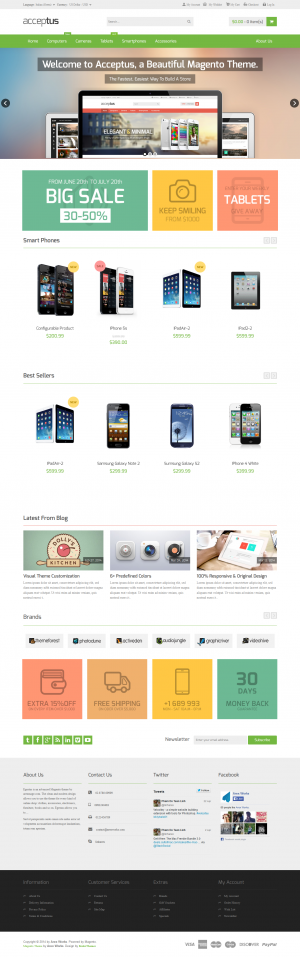 As nowadays selling is conducted over electronic systems, with this latest magento template whic ...