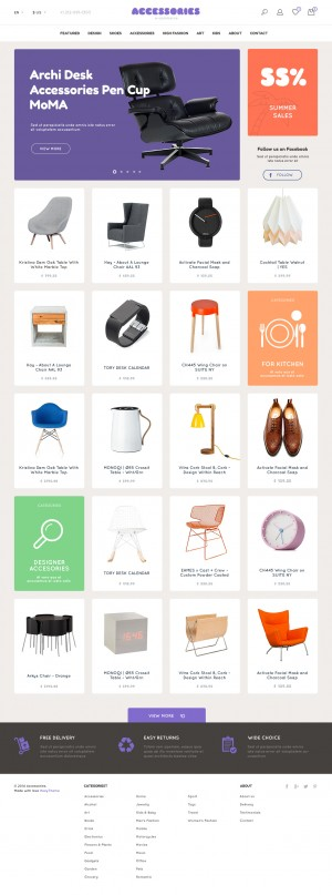 Accessories | eCommerce PSD Template