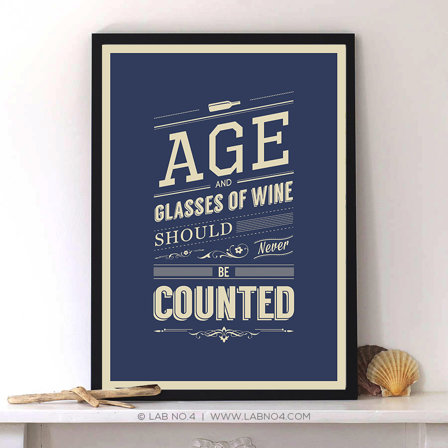 """Age and glasses of wine should never be counted."""