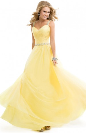 Ball Gown Dress with Ruched Tulle 2014   by FLIRT