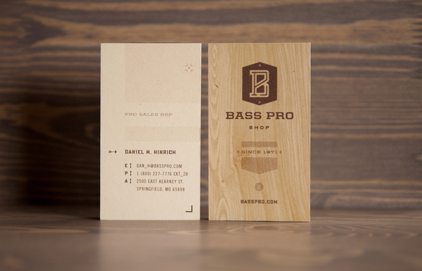 Bass Pro Shop branding by Fred Carriedo.