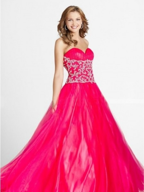 Beading Sleeveless Floor-length A-line Sweetheart Organza Dress