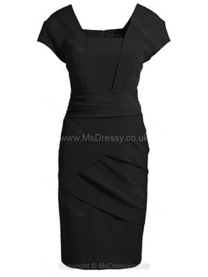 Black Short Sleeve Back Zipper Bodycon Dress for HPL – Msdressy.co.uk