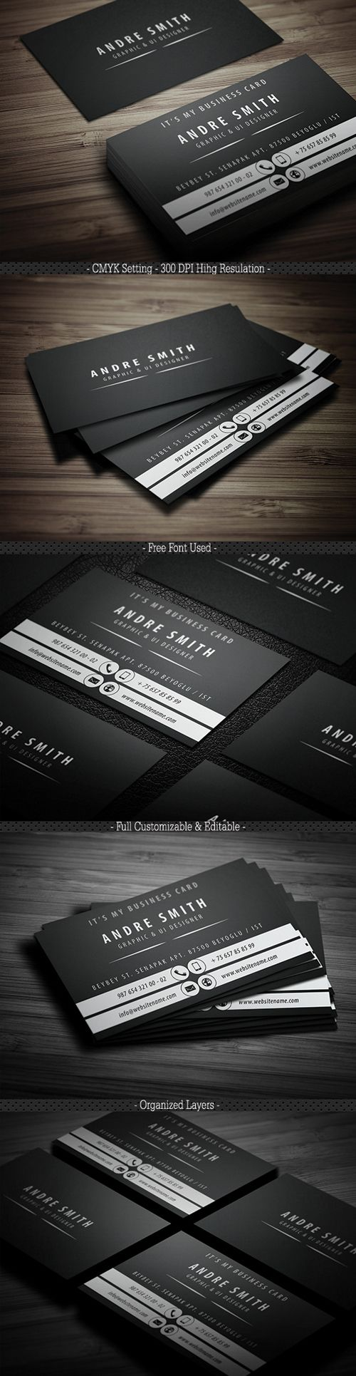 Black Tone Business Card | Design-Identity | Pinterest